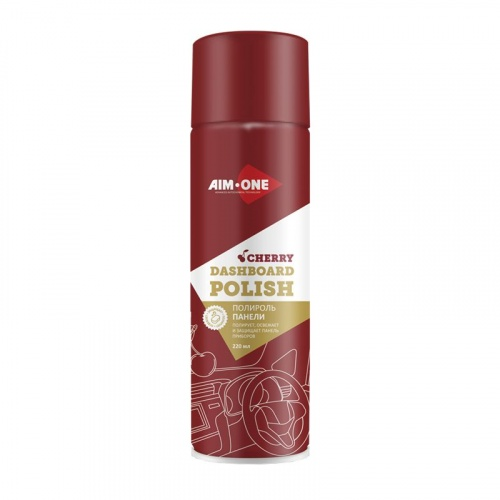 Полироль панели AIM-ONE 220мл (аэрозоль).Dashboard polish-Cherry 220ml DP-CHE
